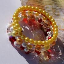 Na ručku - žlutooranžovočervený - pro úzká zápěstí