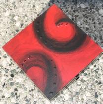 Dřevěná krabička na poklady - ručně malovaná II
