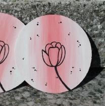 Květinové podtácky